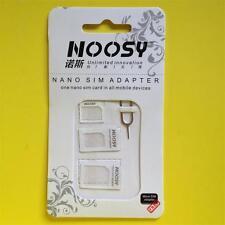 3 Adapters Nano SIM to Micro SIM/Standard SIM Card Adaptors for iPhone 5/4/S/3G