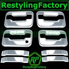 04-14 Ford F150 Triple Chrome 4 Door Handle+no keypad & no PSG keyhole Cover