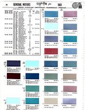 1961 CHEVROLET CORVETTE PONTIAC BUICK OLDSMOBILE CADILLAC 61 PAINT CHIPS MS2