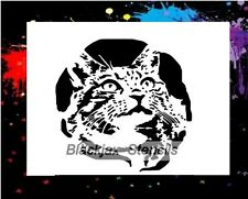 Domestic Cat 02 Airbrush Stencil,Template
