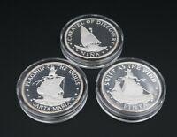 1992 999 Silver 500yr Fleet of Columbus Medallion Coin Set Cert 6oz M1121