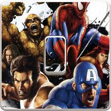 Marvel Avengers Heroes Light Switch Vinyl Sticker Decal for Kids Bedroom #12