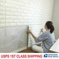 3D White Wallpaper Home Bedroom Mural Roll Modern Stone Brick Wall Background US