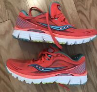 Saucony Kinvara 5 Natural Series Running Shoes Women Size 7 Coral Teal S10238-2
