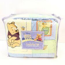 NEW Disney Winnie The Pooh Crib Comforter Baby Blanket Quilt Set Skirt