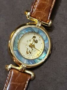 Vintage Disney Time Works Watch Minnie Mickey Mouse