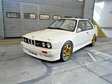 BMW M3 E30 Rallye Gr.A Prodrive Rallye whit weiss Plainbody Test 1989 Otto 1:18