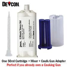 Devcon 5-Min Epoxy Gel-14265-Fast Set No-Drip Epoxy-50ml With Caulk Gun Adapter