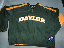 Baylor Bears Baseball PULLOVER Jacket Top Majestic Adult Medium New