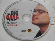 The Big Bang Theory First Season 1 Disc 3 DVD Disc Only 55-381