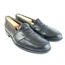 Magnanni Men's Genuine Leather Penny Loafers 5018 Black Size 10 M Made In Spain