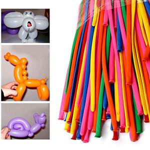 200pcs Mixed Color Long Animal Tying Making Balloons twist Latex Balloon