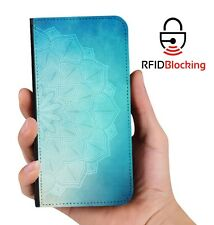 RFID Protected Mandala A PU Leather Wallet Custom Case Cover for Apple iPhone
