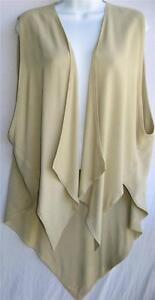 TIENDA HO~Khaki~MOROCCAN COTTON~Pointed CASCADE Marci Vest~Free/os(L-3X?)