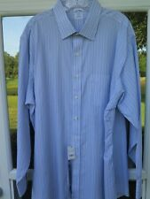 Brooks Brothers Non-Iron Striped Slim Fit Dress Shirt 18 x 34/35 XXL 2XL NWT NEW