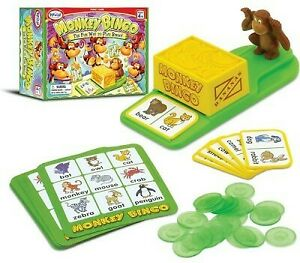 Monkey Bingo by Popular Playthings - Ages 4 to 8 - 2 to 8 players Popular Playth
