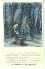 CPA carte postale ancienne POULBOT Misérables Petite fille toute seule TBE