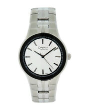 Caravelle by Bulova 43A113 Men's Silver Tone Round Analog Stainless Steel Watch
