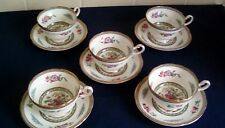 Set of 5 Paragon Tree of Kashmir Cups and Saucers all in Excellent Condition