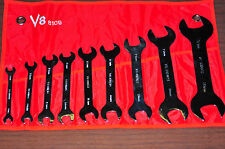 9 PCS METRIC SUPER THIN WRENCH DOUBLE OPEN END 8 MM TO 32 MM POLISH FORGE ALLOY