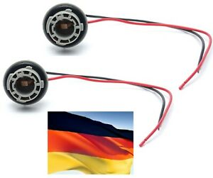 Flosser Pigtail Wire 6445 Female Socket BAU15S Two Harness Front Turn Signal Fit