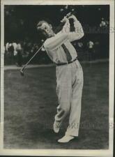 New listing 1934 Press Photo Al Watrous In The Pro Golfers Association Tourney In Buffalo NY