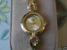 New Q&Q by Citizen Gold Tone Lady Dress Watch w/Golden Dial