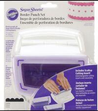 WILTON fogli di zucchero-Border Punch Set-CON INSERTO DA TAGLIO Conchiglia-NUOVO