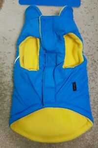 Gooby Dog Sport Vest Jacket Fleece Lined with Reflective Lining Blue Size M NWT