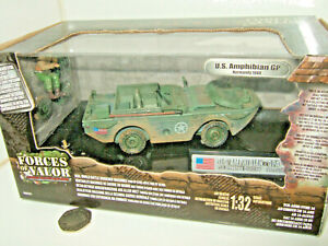 Forces of Valor 82004 US Amphibian GPA , 3 Armd Div, Normandy 1944, 1:32 Scale.