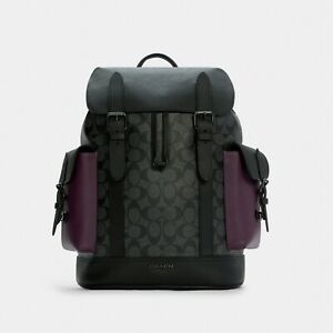 NWT Coach Hudson Backpack In Colorblock Signature Canvas