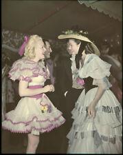 Gene Tierney June Haver original 4x5 Transparency rare 1946 Bel-Air party