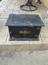 Vintage Art Deco Smoking Pipe Tobacco Humidor Copper lined