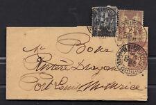 Cover paris  ile maurice 3 x 2 c Sage Bande  port louis Mauritus  1900  stamp
