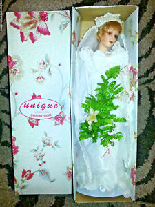 PRINCESS DIANA Porcelain Doll WEDDING DRESS Bride LIMITED UniQue Collection NEW
