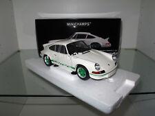 1:18 Minichamps, Porsche 911 Carrera RS 2.7 1972 weiß-grün, NEU & OVP, RARITÄT