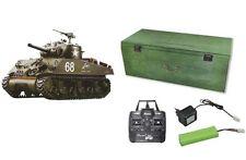 RC Panzer U.S. M4A3 Sherman Rauch, Sound, Schuss inkl Holzbox 2,4 GHz 23073