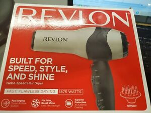 Revlon Perfect Heat Volumizing Turbo Hair Styler Dryer Silver RV473CP1 A195