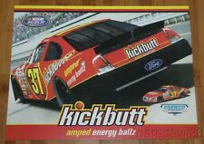 2007 Kickbutt Amped Energy Ballz Ford Fusion Race Car NASCAR Busch postcard