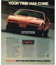1982 Pontiac TRANS AM Red 2-door Coupe Vtg Print Ad