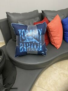 """Tommy Bahama Set 2, 20"""" Blue Tropical Decorative Indoor-Outdoor Pillow New FS"""