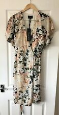 PHASE EIGHT JEN CREAM VINTAGE FLORAL WRAP MIDI DRESS UK 12 NEW WEDDING GUEST
