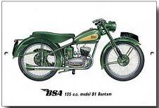 BSA 125ccm Modell D1 Bantam Metall Schild Vintage British BSA Motorräder