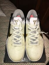 Pre-Owned 7/10 NIKE ZOOM KOBE 7 SYSTEM ELITE WHITE BLACK GOLD GREY Size 9.5