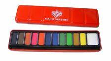 Major Brushes Watercolour Art Paint Tin Set of 12 blocks of colour