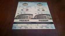 09/21/2008  LAST GAME EVER AT THE OLD YANKEE STADIUM 2 ATTACHED STUBS FIELD BOX