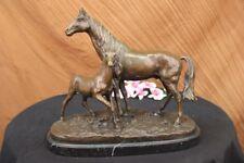 Bronze Horse Mene Arabian Mare L`Accolade Sculpture Statue Vintage Figure Decor