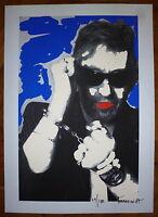 Gainsbourg Serge par Pierre Terrasson sérigraphie originale signée  Pop Art
