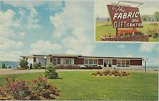 c1950s Hiles Fabric & Gift Center on Route 12 south of Williamsport PA postcard