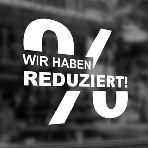 "Folie ""Reduziert / Sale"" Rabatt Etikett Schaufenster Beschriftung Deko #2028"